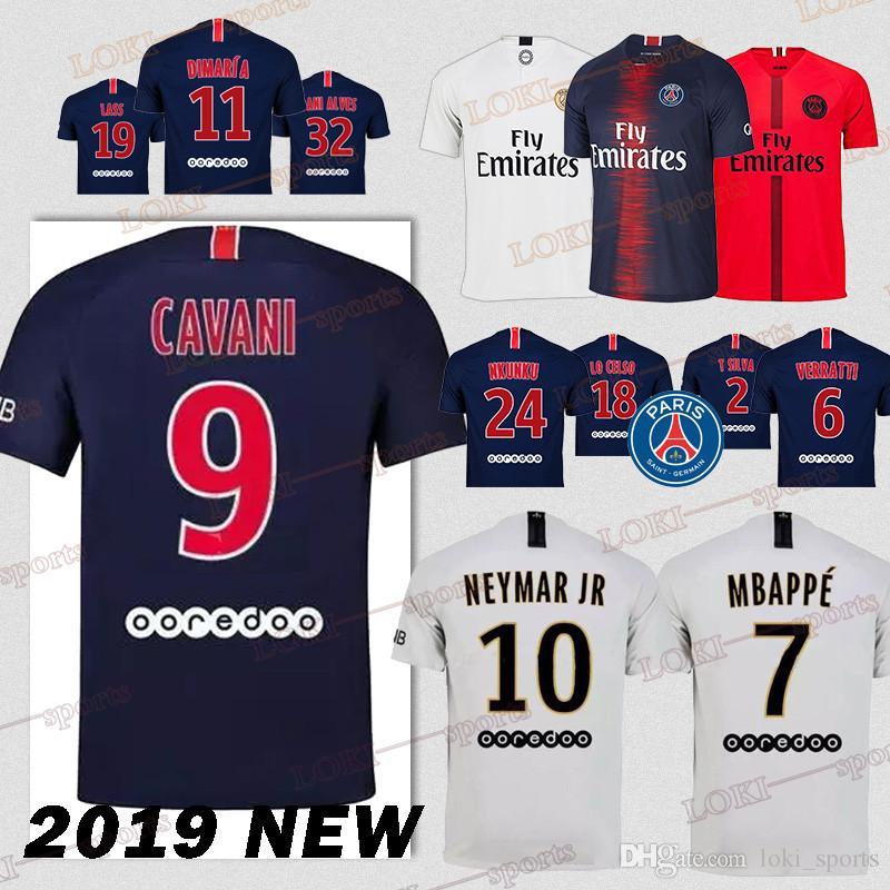 5cf6d2e47ad69 FC Paris Saint Germain Jersey PSG Soccer Jersey MBAPPE CAVANI 18 19 ...