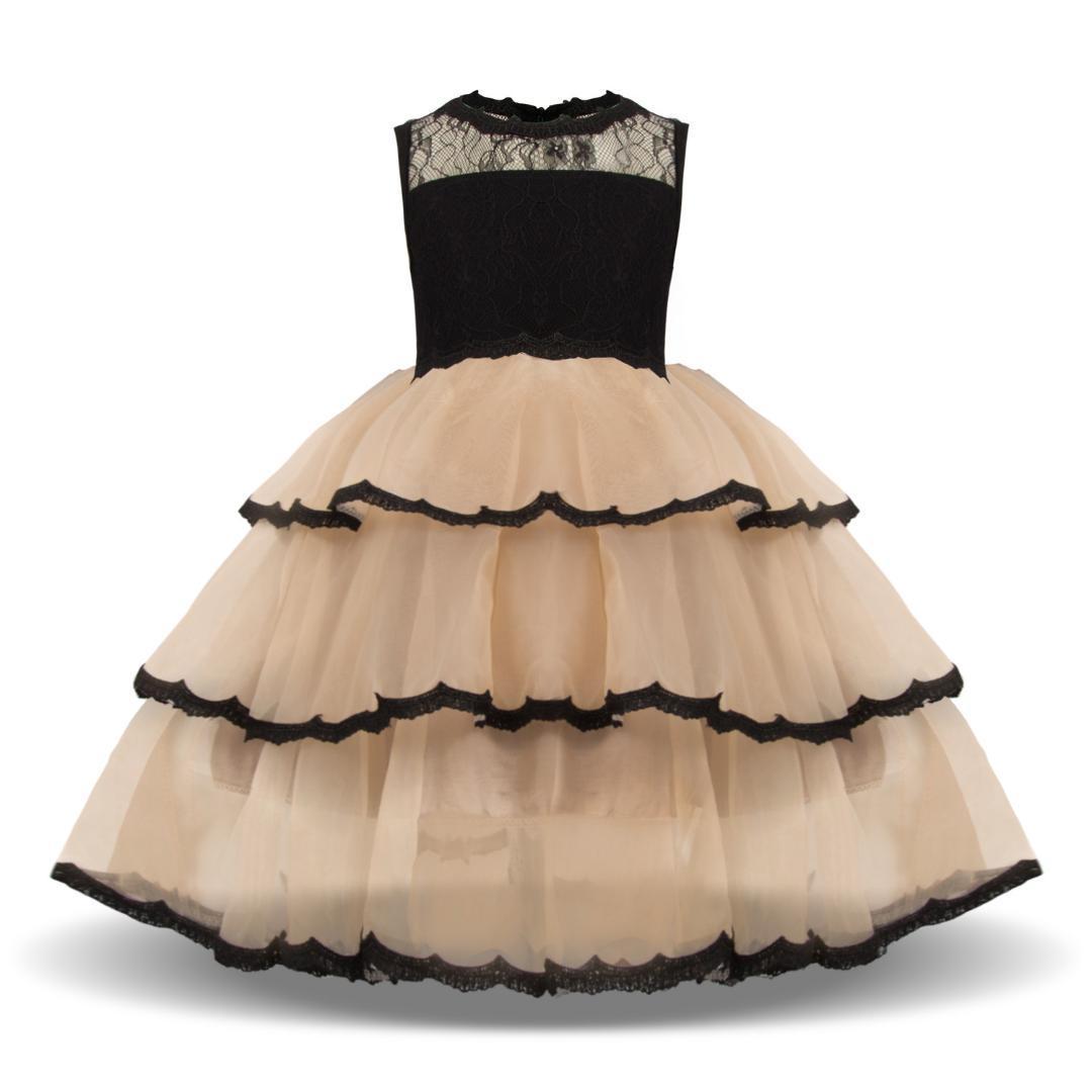 72467d49f Compre Vestidos De Verano Para Niños Princesa Fiesta Tutu Traje De Encaje  De Los Niños De La Boda De Dama De Honor Vestidos De Noche Vestido Infantil  A ...