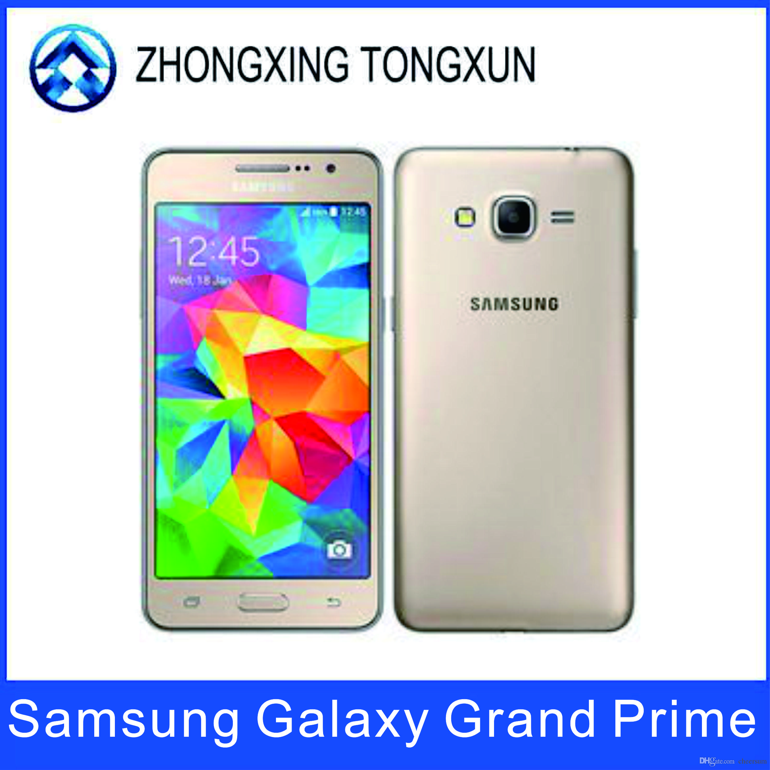 Original Unlocked Samsung Galaxy Grand Prime G530A G530H Mobile Phone Ouad  Core Dual SIM 5 0 Screen WIFI GPS cell phone