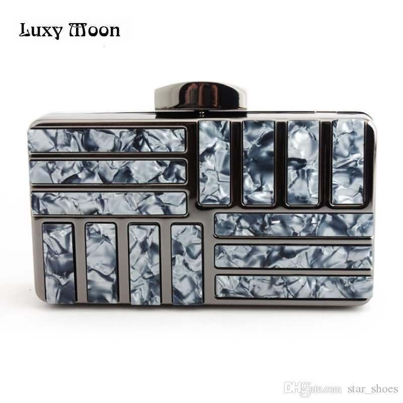 04e92e9d90 Luxy Moon Evening Bag Day Clutches Acrylic Apricot Lady Wedding Purse  Handbags Black Evening Hardcase Metal Party Handbags ZD824 #125599 Name  Brand Purses ...