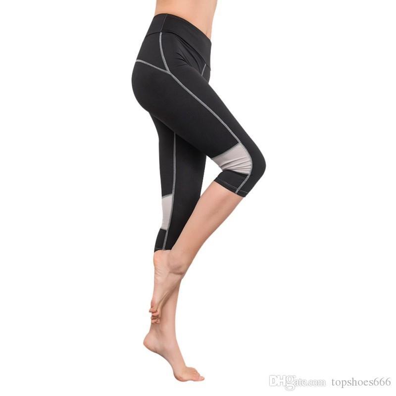 9aaa7b457586 Women Sports Leggings Capris Fitness Running Gym Legging Yoga ...