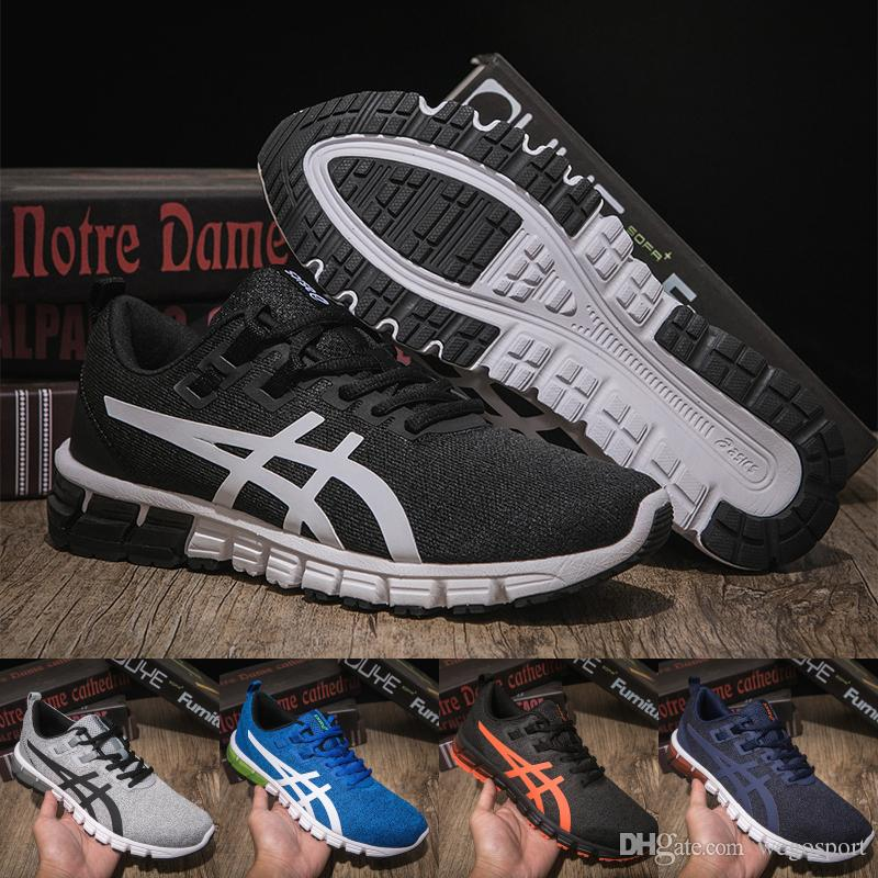 b12679a2346d6b 2019 Asics New Arrivals Gel Quantum 90 Running Shoes Fashion Men Designer  Sneaker Black Dark Blue Top Quality Sport Shoes Size 40 45 From Wegosport,  ...