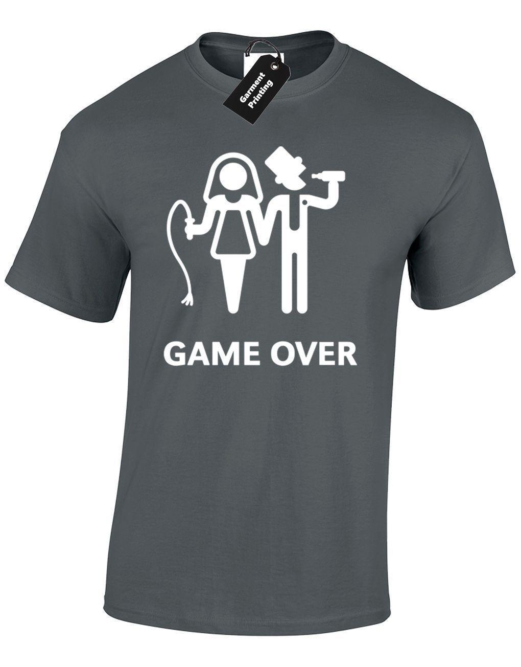 859b31d2 GAME OVER MENS T SHIRT FUNNY BRIDE GROOM AMUSING WEDDING NOVELTY GIFT TOP  Graphic Tee Shirts T Shirt Sayings From Jie55, $14.67| DHgate.Com