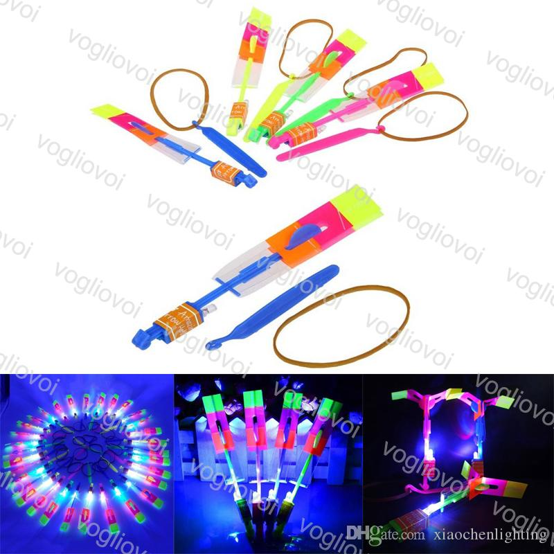 LED Arrow Helicopter Amazing Flashing Rotating Flying Light Up For Kids Party Decoration Gift Frisbee Flyer Boomerang Toys EPACKET