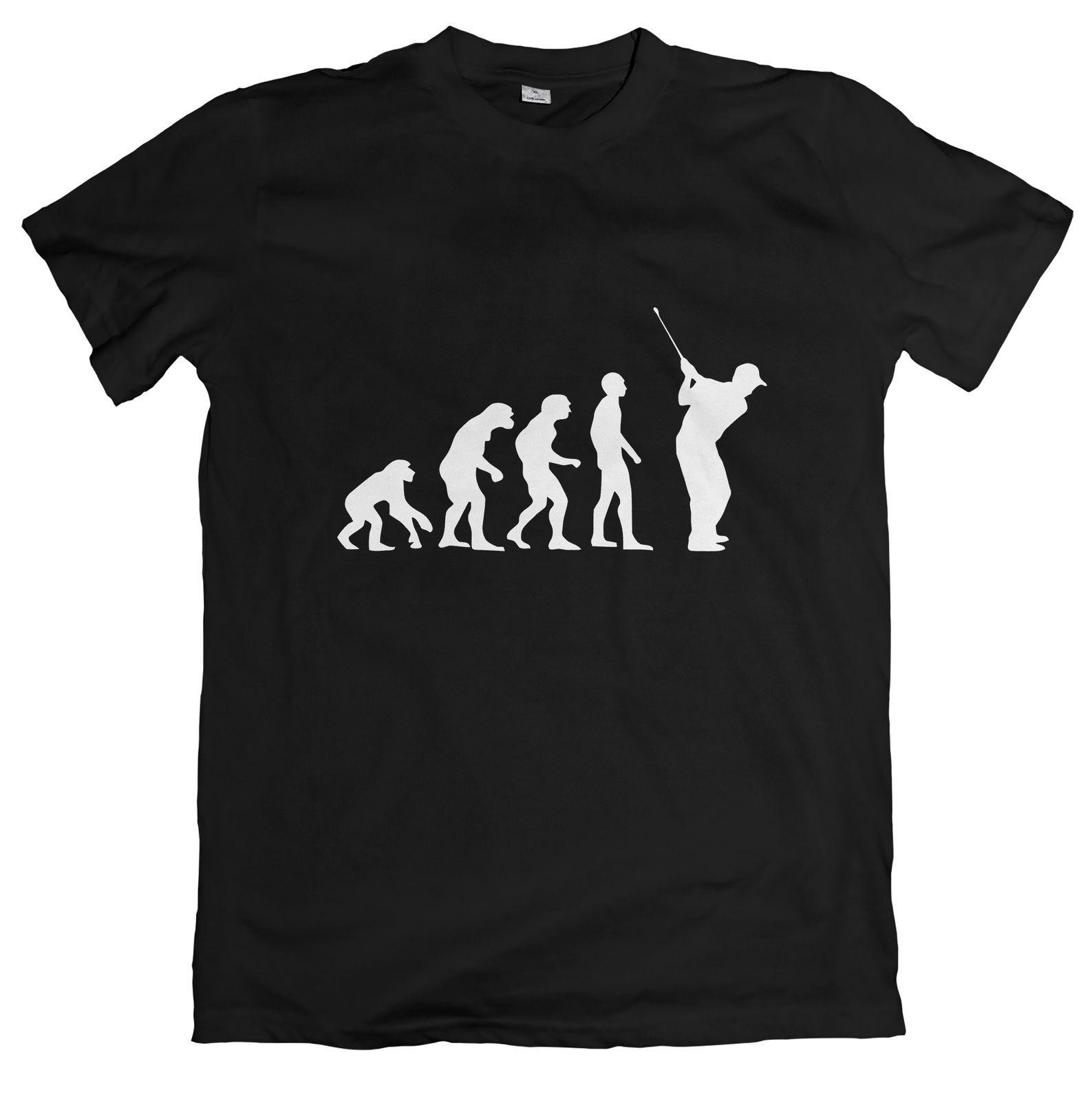 The Evolution Of Golf Tshirt Golfer Golfing Tee O Neck Fashion