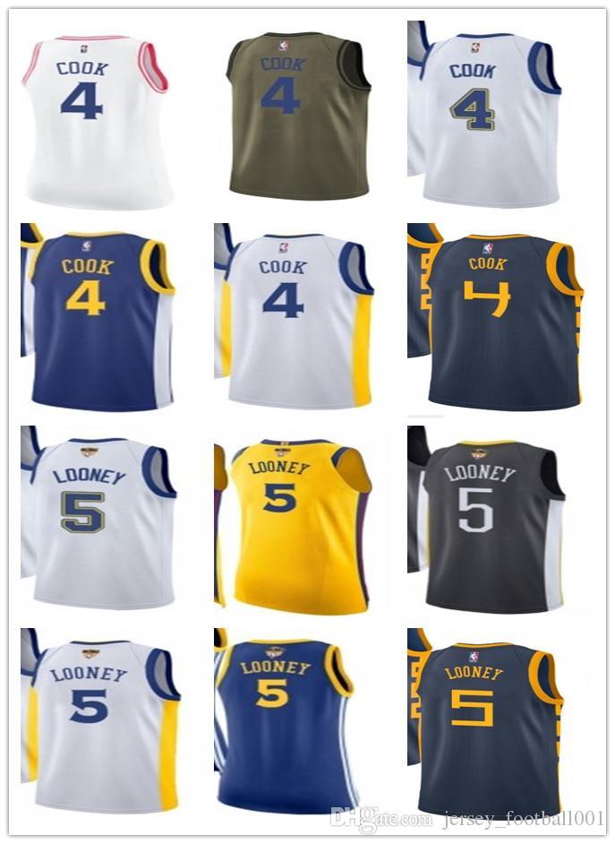 sale retailer 06bfc 88aaf custom basketball jersey 2019 Warriors Jerseys 4 Quinn Cook#5 Kevon Looney  Jerseys men#WOMEN#YOUTH#Men's Baseball Jersey