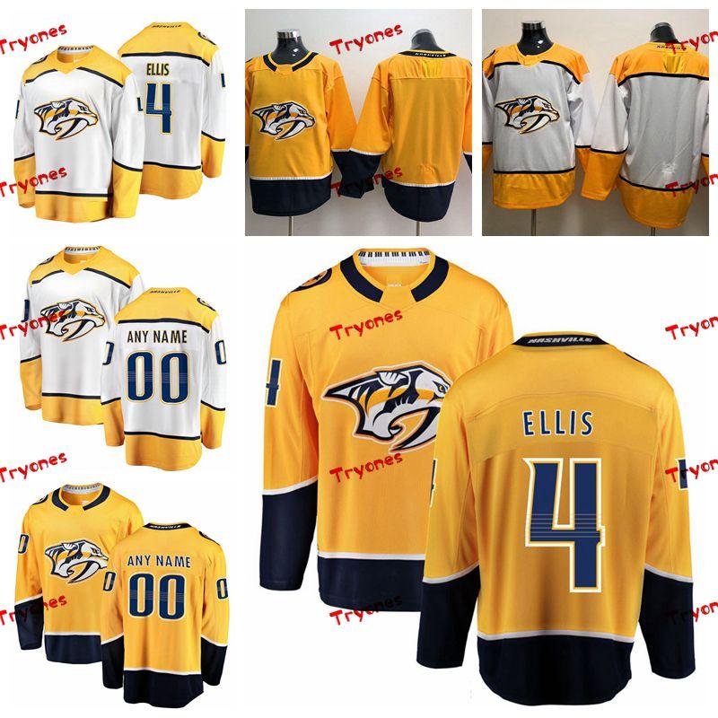 2019 Customize Ryan Ellis Nashville Predators Stitched Jerseys Custom Home  Gold Shirts  4 Ryan Ellis Hockey Jerseys S XXXL UK 2019 From Tryones 2215eefe2
