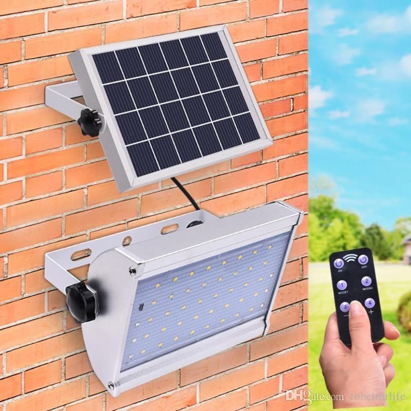 6W 46 LED Outdoor Security Floodlight Luce solare IP65 Impermeabile microonde sensore radar Lampada da giardino cortile