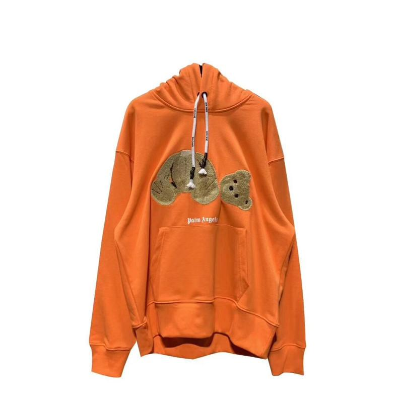 Orange Palm Angels Sudadera con capucha Hombres Mujeres Mejor calidad Moda Casual Oso roto Palm Angels Pullover