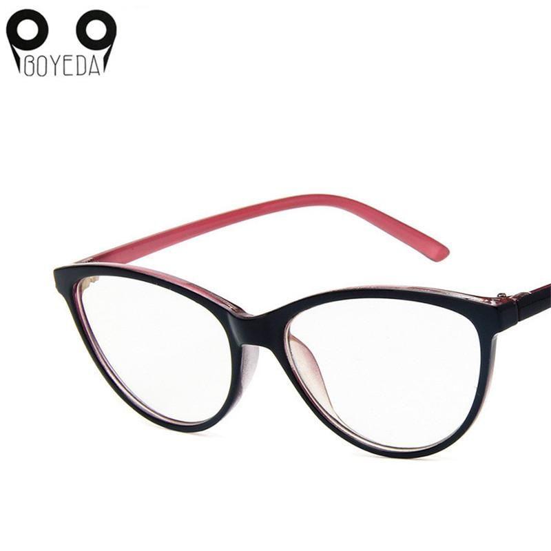 048b9dc7d15 2019 BOYEDA New Cat Eye Glasses Frame Women Ultralight Eyewear Lady Optical  Frames Myopia Nerd Eyeglasses Fashion Computer Spectacle From Tenni