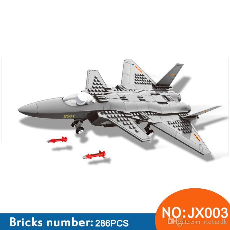 Wange JX003 model building kits city plane 3D blocks Educational model & building toys hobbies for children 286PCS