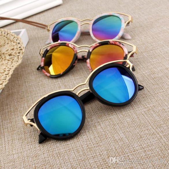 Mode HD kinder UV400 Sonnenbrille Anti Ultraviolett Sonnenbrille Flut Kinder Spiegel Cartoon Kreative Zierbrille