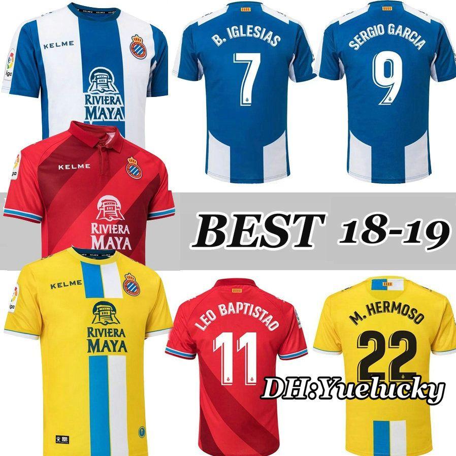18 19 Camisetas De Fútbol Del RCD Espanyol SERGIO GARCIA   9 Futbol  Camisetas Real Club IGLESIAS Deportivo Español Fútbol Camiseta De Fútbol  Kit Por ... 28944966df306