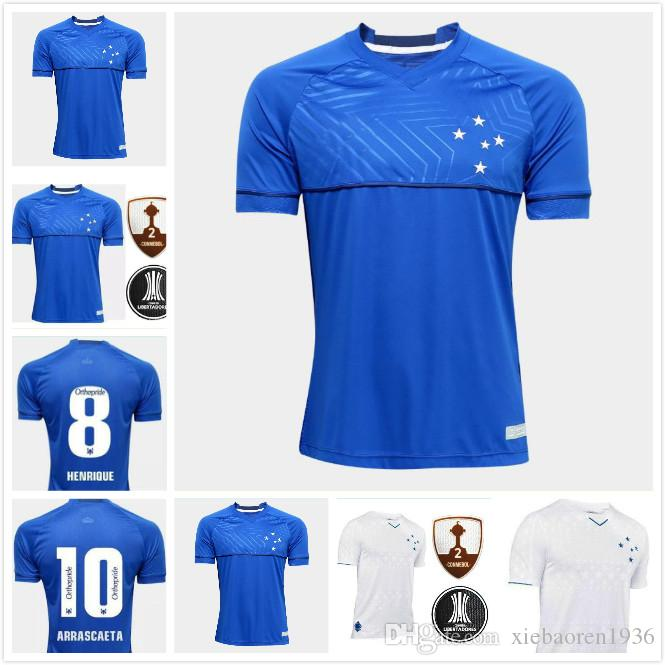 973a1dc7351 2019 DE ARRASCAETA 19 20 CRUZEIRO HOME Soccer Jersey 2019 2020 FRED ROBINHO  THIAGO NEVES Football Shirt Cruzeiro AWAY Brazilian Club Camisas From ...