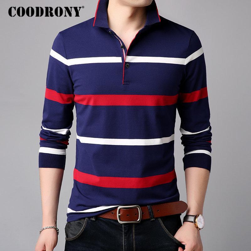 f8a23cc73 Coodrony T Shirt Men Clothes 2018 Autumn Long Sleeve T Shirt Men ...