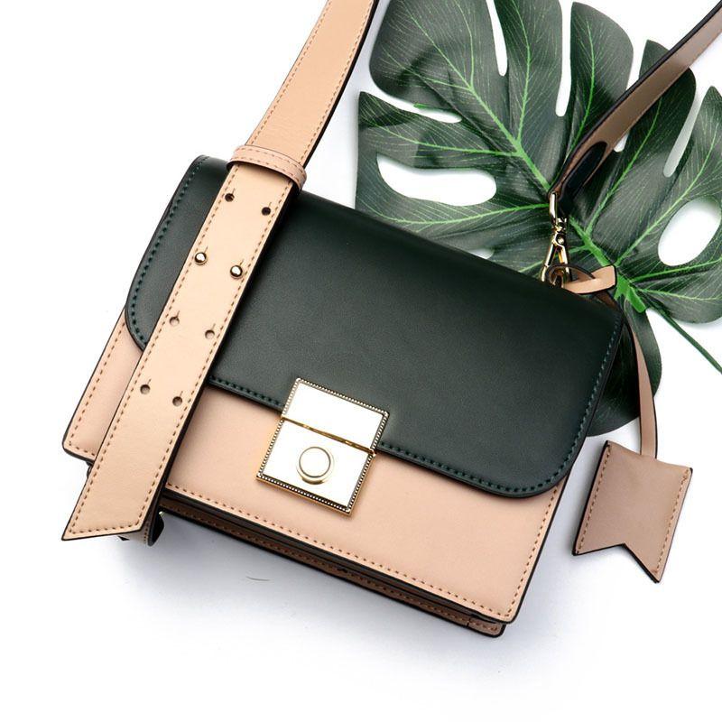 686fcccc043 2019 Split Leather Crossbody Bag Women Leather Handbags Casual Tote Bags  Handle High Quality Classic Fashion Design Teenager Bag Cute Purses Rosetti  ...