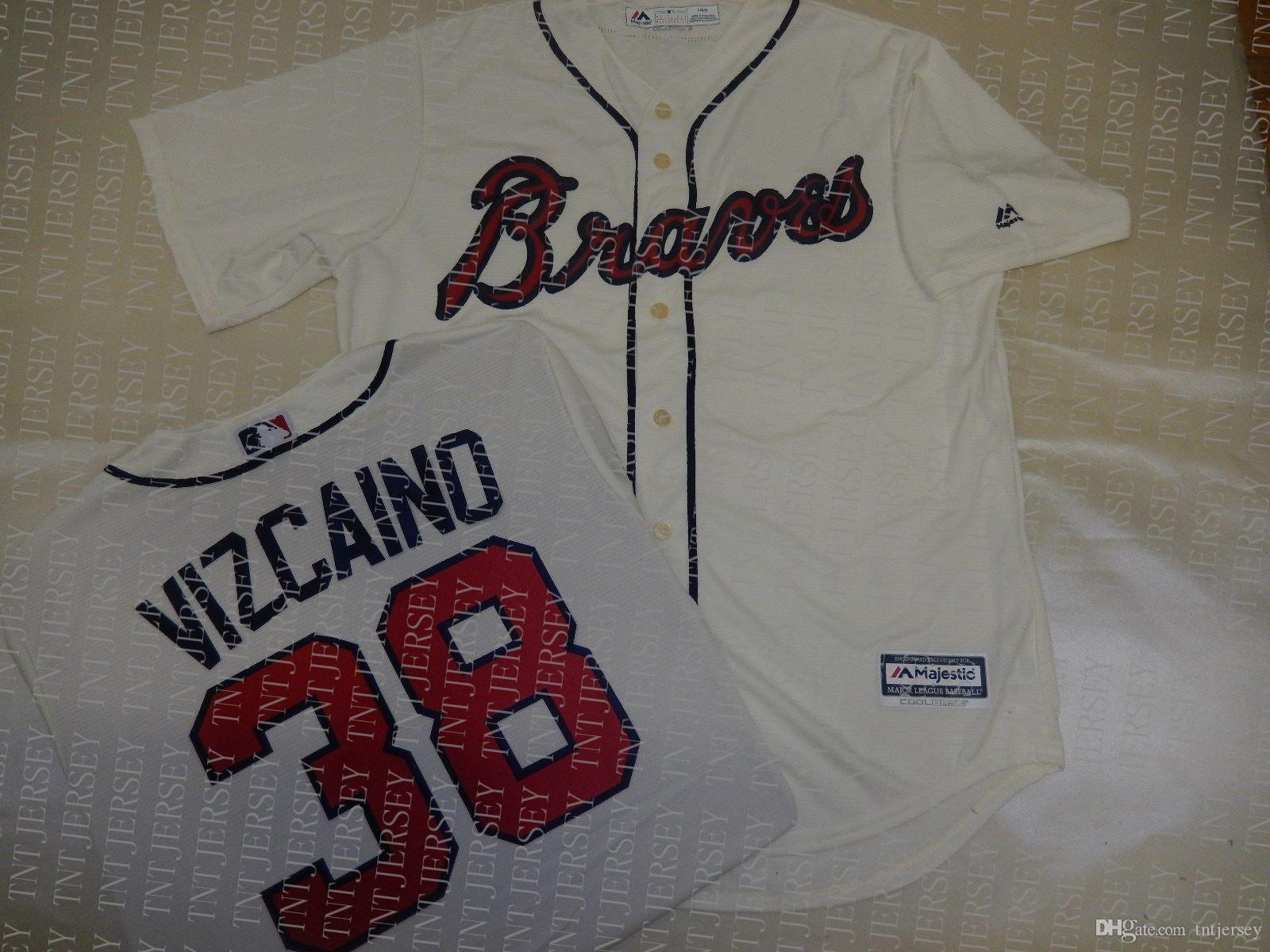 100% embroidery custom ARODYS VIZCAINO Baseball JERSEY CREME Stitch customize any number name MEN Jerseys XS-5XL NCAA JERSEY
