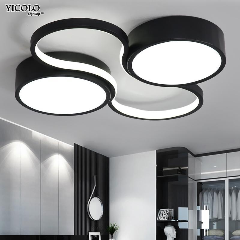 LED Kronleuchter Licht Moderne Lampe Wohnzimmer Beleuchtung Kunst Design  Schlafzimmer Küche Oberflächenmontage Flush Panel Fernbedienung dero