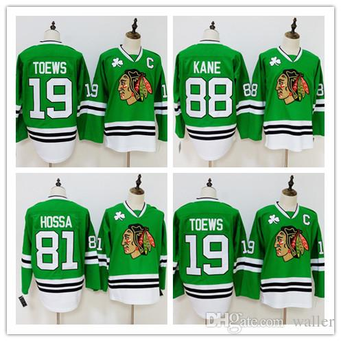 634604ced64 2019 Chicago Blackhawks Jersey 19 Jonathan Toews 81 Marian Hossa 88 Patrick  Kane Green Jersey Stitched Hockey Jerseys From Waller, $21.75 | DHgate.Com