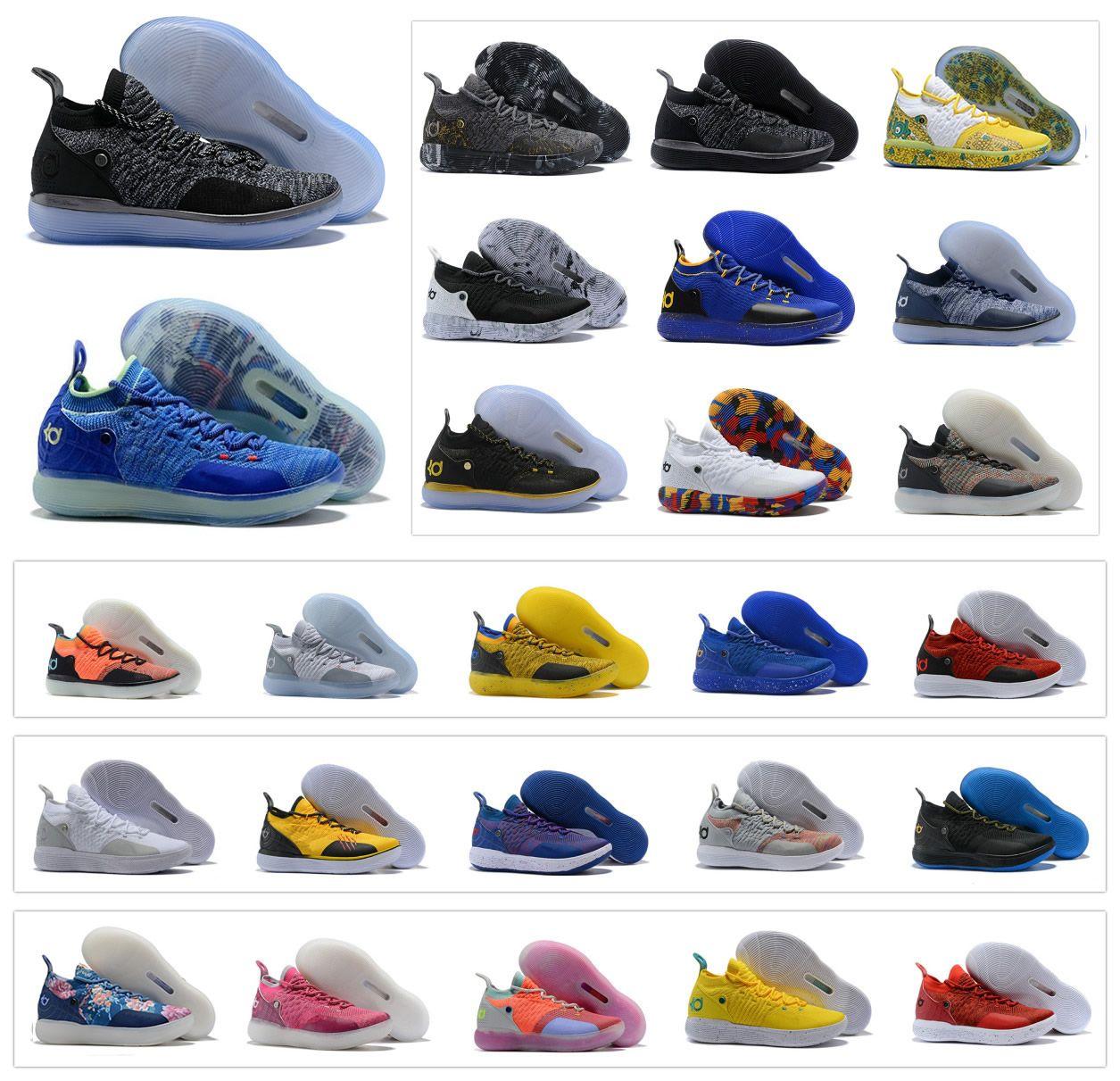 official photos 557b8 ba8a7 Großhandel Heiße Männer 2019 Kevin Durant KD 11 11S Multi Color KD11 XI  Sneakers WEISS Zoom X Jubiläumsschuhe Basketballschuhe X Elite Mid Sport  Sneakers 40 ...