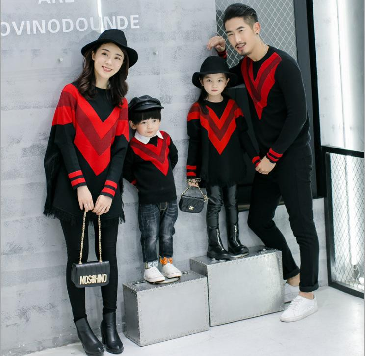 8ef1f3931 Family Matching Clothes New Year Dress Christmas Clothes Mother ...
