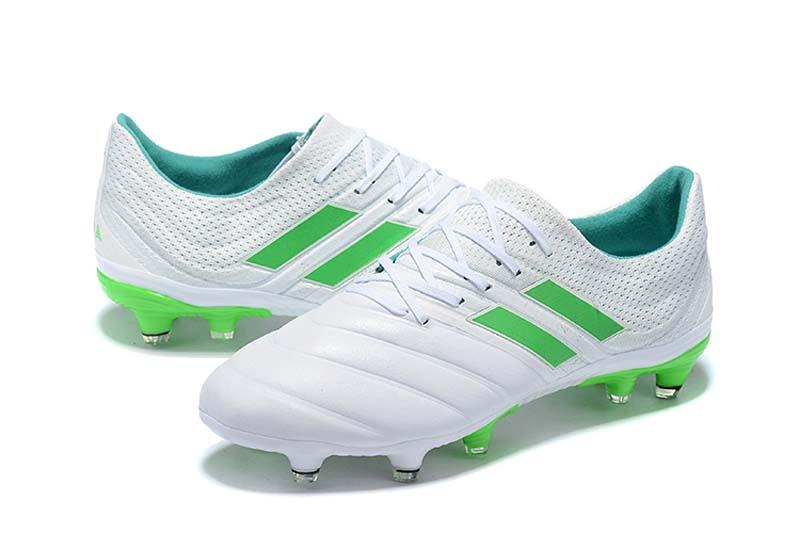 2019 Best Quality White Green Exhibit Copa 19.1 FG Football Boots Copa 19.4  FG Soccer Shoes Outdoor Mens Soccer Cleats Sneakers UK 2019 From  Top soccer2020 c80d0fd48a
