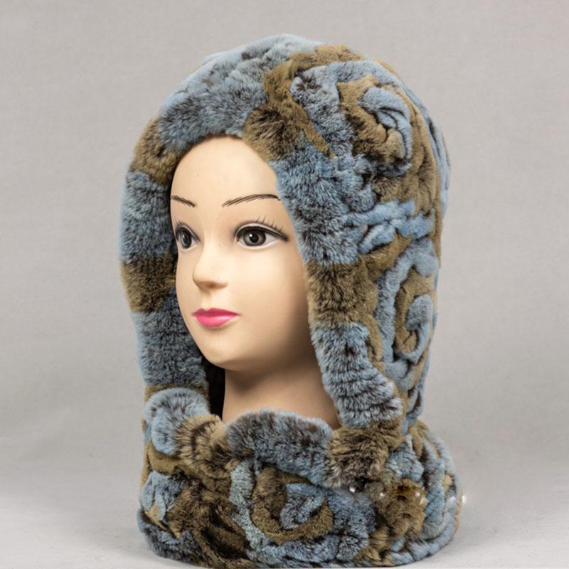 Compre 2018 Mujeres De Punto Cálido Rex Sombrero De Piel De Conejo Gorra De  Invierno De Moda Rusia Sombreros De Piel De Las Señoras Cálido Sombrero Y  ... e6b6877dcae