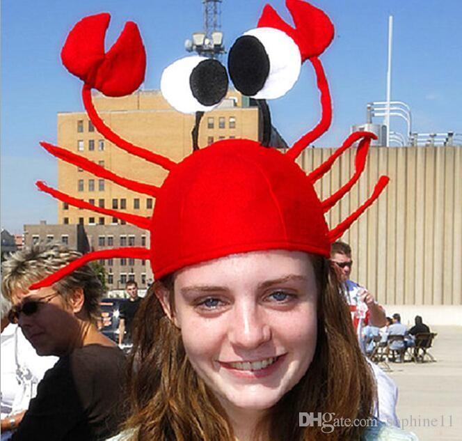 Compre Engraçado Caranguejo Chapéu Do Partido Lagosta Vermelha Caranguejo  Animal Do Mar Chapéu Acessório Traje Adulto Criança Cap Presente De  Sophine11 a2b8976b215