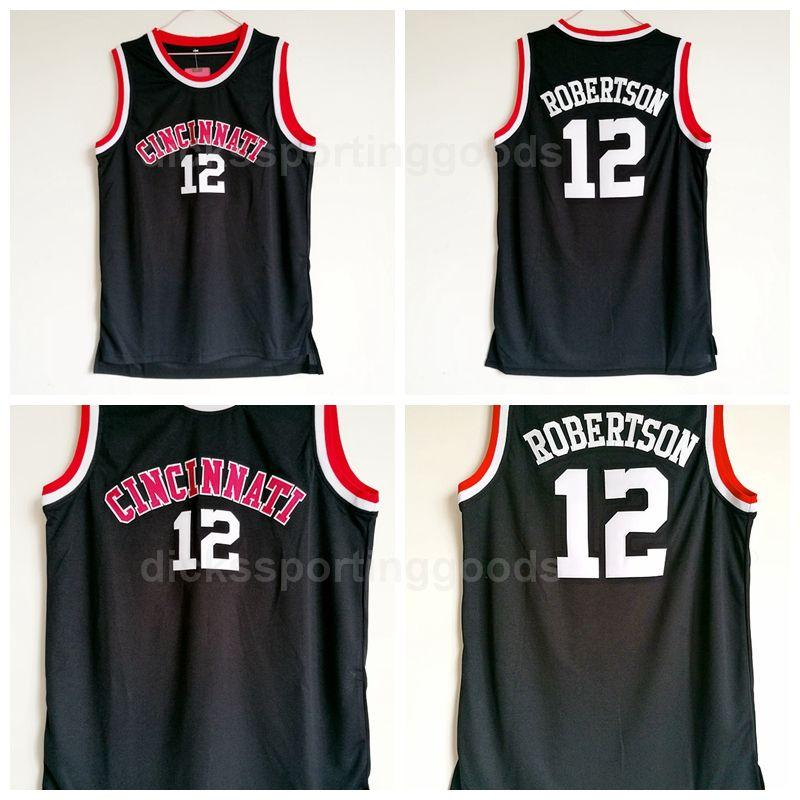 san francisco 8d6b0 5e2e8 NCAA College Men 12 Oscar Robertson Jersey Basketball Cincinnati Bearcats  Jerseys Color Black Team Breathable University Free Shipping