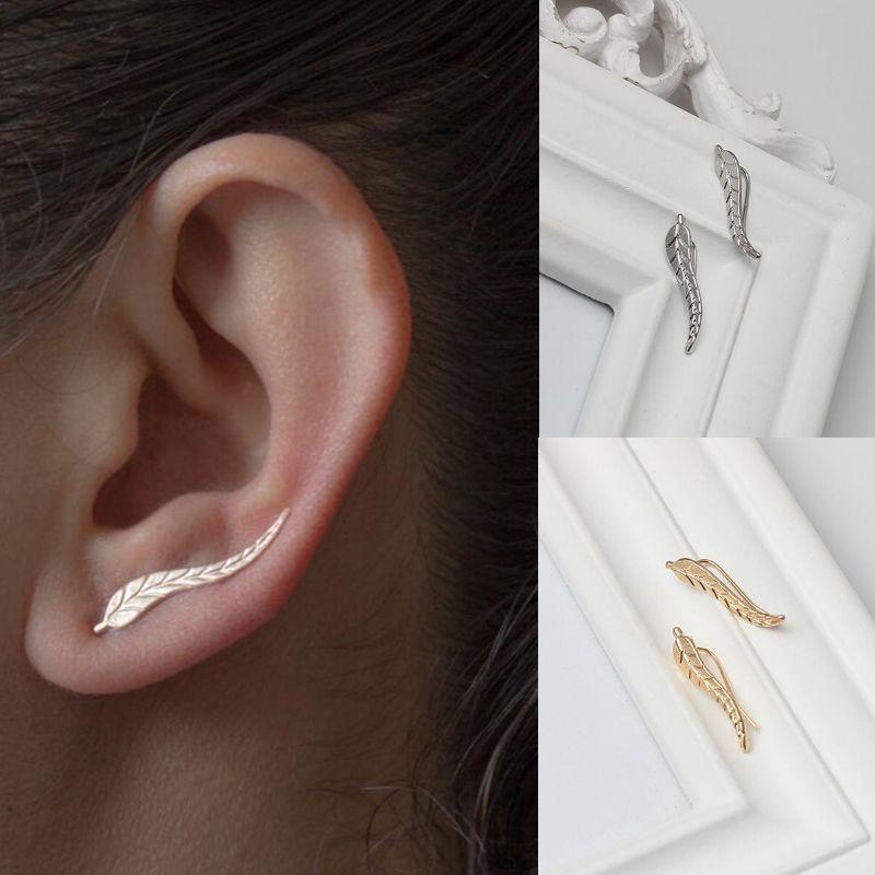 Großhandel Jisensp Exquisite Silber Farbe Blatt Ohrringe Für Frauen
