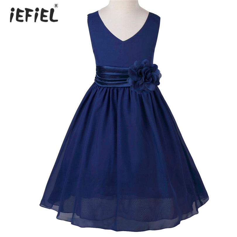 3a5781386ef 2019 IEFiEl Flower Princess Girls Dress Vestido De Festa Wedding Party Dress  Children Elegant Gorgeous Dress Kids Dresses For From Ys shop