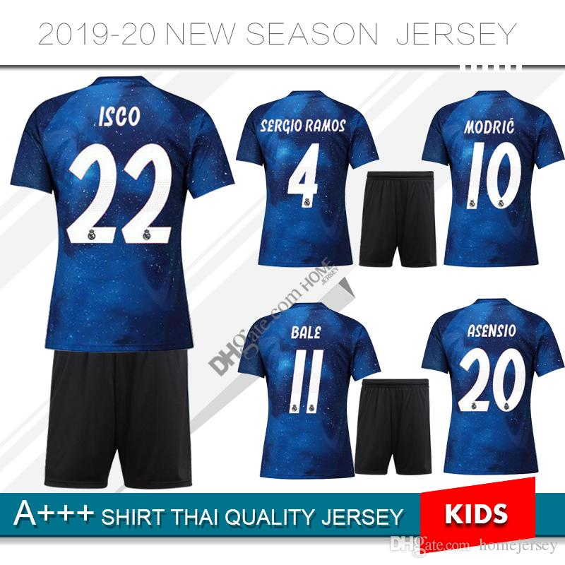 52e2ab94d 2019 2019 Limited Edition Real Madrid Kids Kit Soccer Jerseys 19 20 Soccer  Shirt BALE Football Uniforms ASENSIO ISCO Special Version Football Shi From  ...