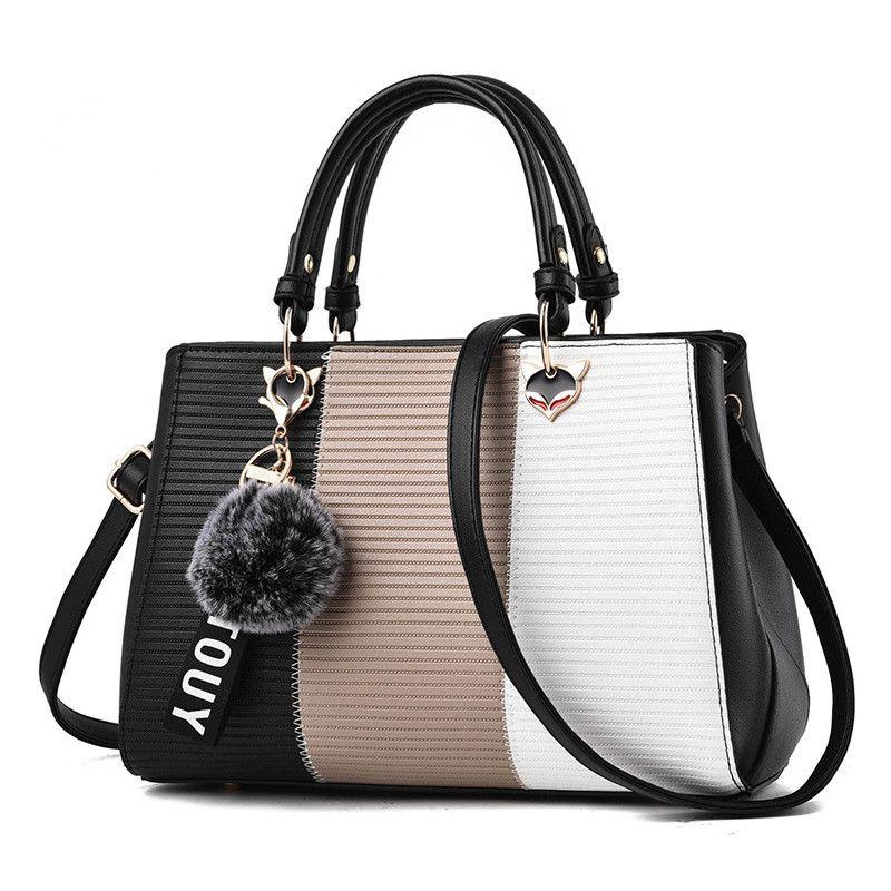 Contrast Color Luxury Handbags Women Bags Designer Shoulder Bag For ... dbecaddca3e0f