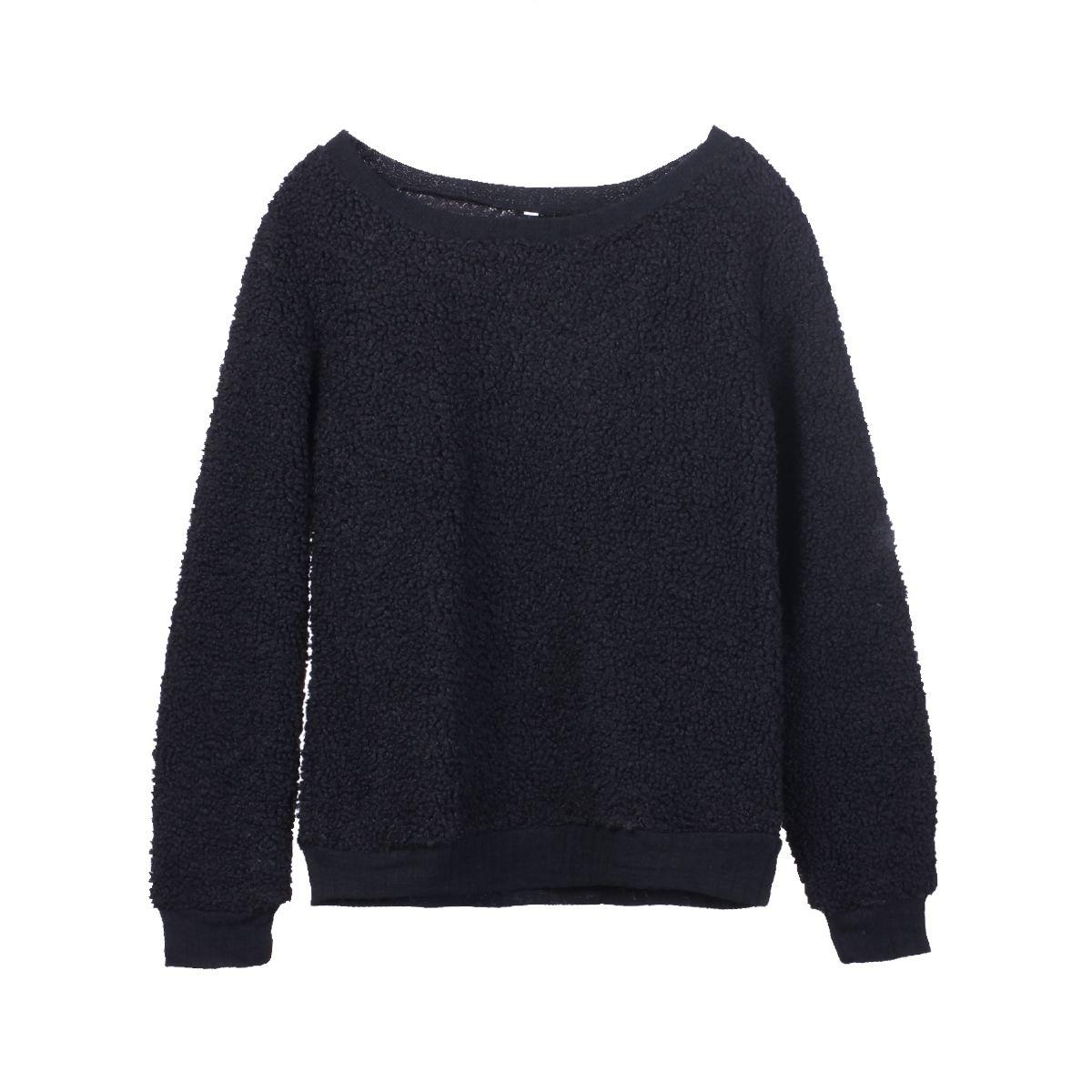 Şık Bayan Long Sleeve Pamuk Kadife Boy Gevşek Örme Kapüşonlular Kazaklar Jumper Dış Giyim Hoodie Sweatshirt Giyim