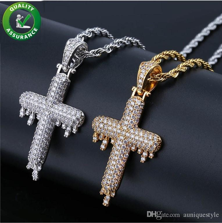 Wholesale Hip Hop Jewelry Iced Out Pendant Mens Necklace Micro Paved CZ  Cross Diamond Pendant With Bling Chains For Men Luxury Brand Women Fashion  Gold ... 9158b0a824