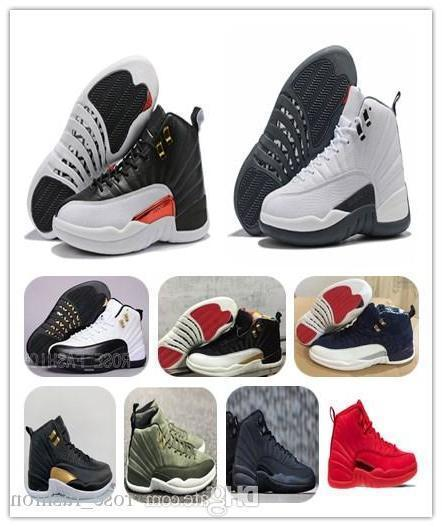 12 Reverse Taxi Basketball Shoes 12s Cny White Grey Gym Red Midnight Black Xii Flu Game Sports Sneakers Free Shippment