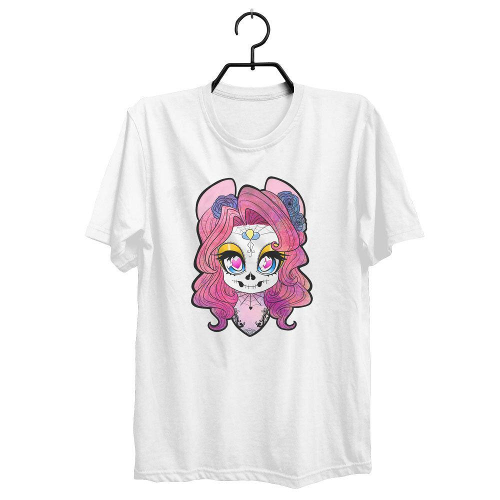 0a33a5f9538d4 Oversized Slouchy Tshirt Tattoo Sugar Skull Roses Off The Shoulder White  Black Grey Red Trousers Tshirt Shirt Design Tees From Onefulcup
