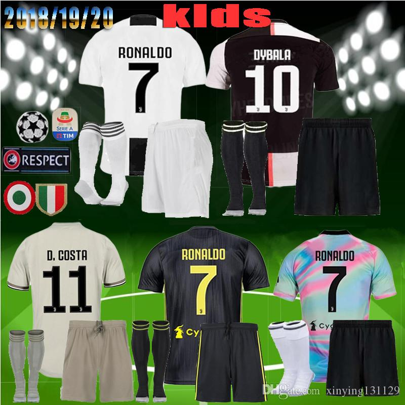 brand new 3f952 a3df2 FREE Ship 2019 2020 JUVENTUS kids Soccer Jersey kit 18 19 20 RONALDO DYBALA  MARCHISIO MANDZUKIC PJANIC Matuidi Away 3RD CR7 Football Shirt