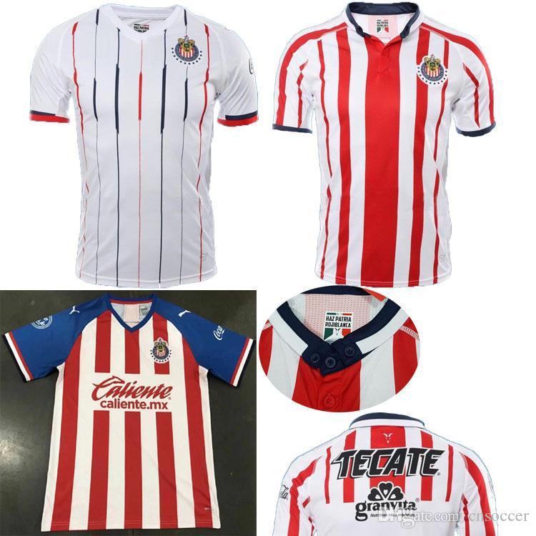 size 40 dcdca df05f 2019 20 Chivas Guadalajara soccer jerseys red home white away jerseys  Camiseta de futbol away black Mexico Liga MX Club America shirt