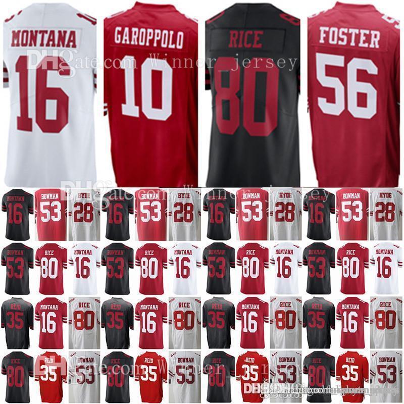 San Francisco 10 Jimmy Garoppolo 49er 16 Joe Montana 80 Jerry Rice ... ea6af2e2b