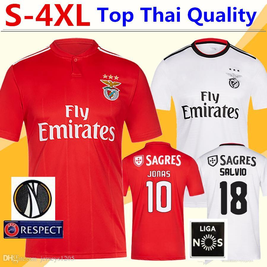 SL Benfica Soccer Jersey Tshirt 18 19 JONAS PIZZI Home Football ... bf1433a28