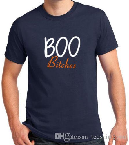 af6b17d9f Boo Bitches T Shirt Halloween Party Scary Costume Funny Tee Shirt Short  Sleeve Tee Shirt Men'S Crazy Custom Short Sleeve Plus Size Party T S Best  Sites For ...