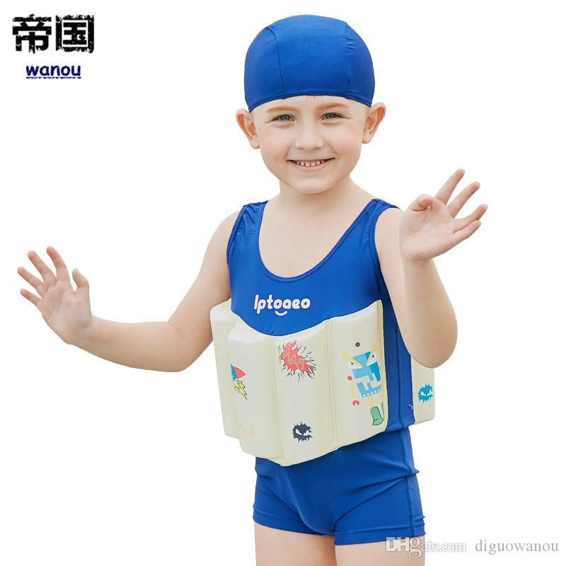7e0369a26 Fashion NEW Children's Swimwear Boys Swimsuit Buoyancy Surfing Floating  Swimming Clothes Bathing Suit Toddler Swim Vest Rash Guard. Flash Sales