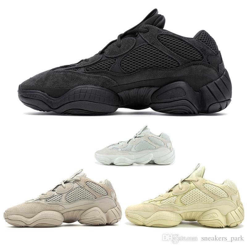 2f245c85bbe New Salt Kanye West 500 Men Running Shoes With Box 2019 Designer Shoes  Super Moon Yellow Blush Desert Rat 500 Sport Sneakers Womens Running Shoes  Sport ...
