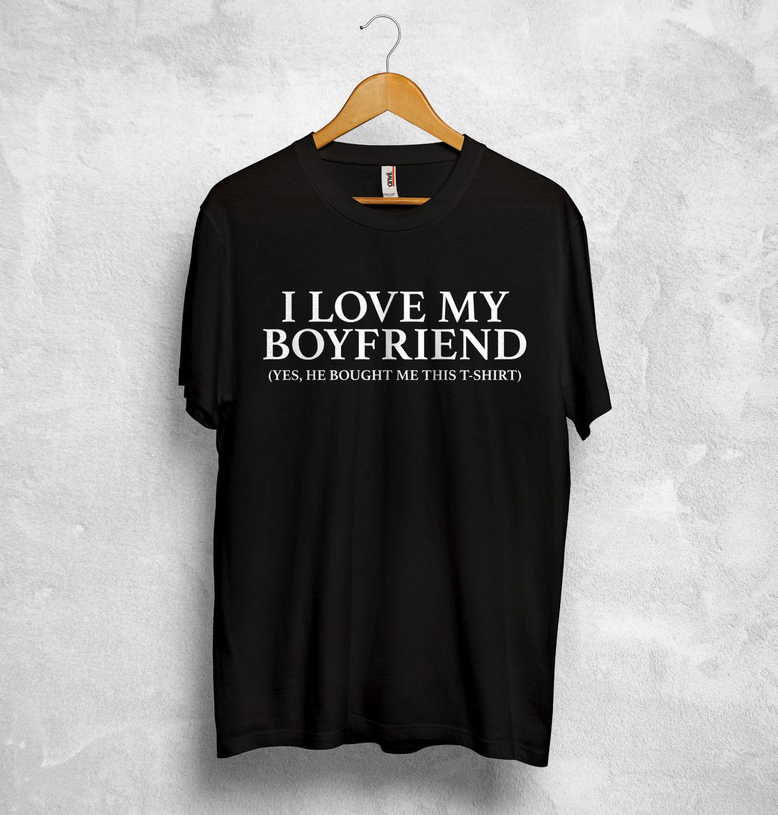 5dd552f5ae I Love My Boyfriend Girlfiend T Shirt Valentines Gift Couple Funny Joke Unicorn  Adult Chinese Style Mens Cotton T Shirt Vintage T Shirts Band T Shirts From  ...