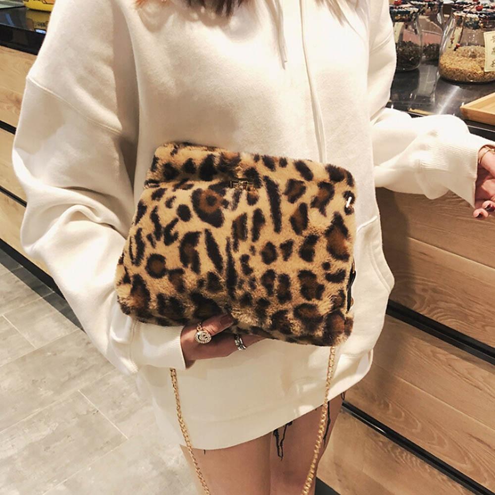 Women Bags Plush Leopard Print Shoulder Bag High Quality Casual Messenger  Crossbody Bag Shoulder Handbag Bolsos Ladies Bags Backpack Purse From  Fenxin 97dad9b0d1b5
