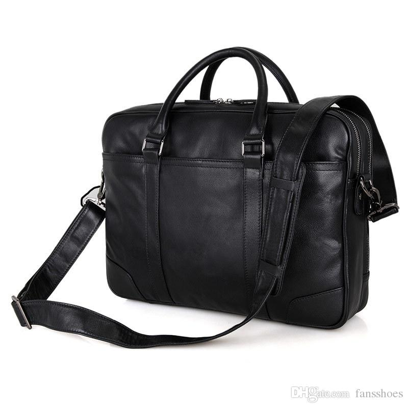 Hch-high Quality Men Handbags Pu Leather Messenger Bags Men Travel Bags Metal Zipper Business Laptop Shoulder Bag Women's Bags