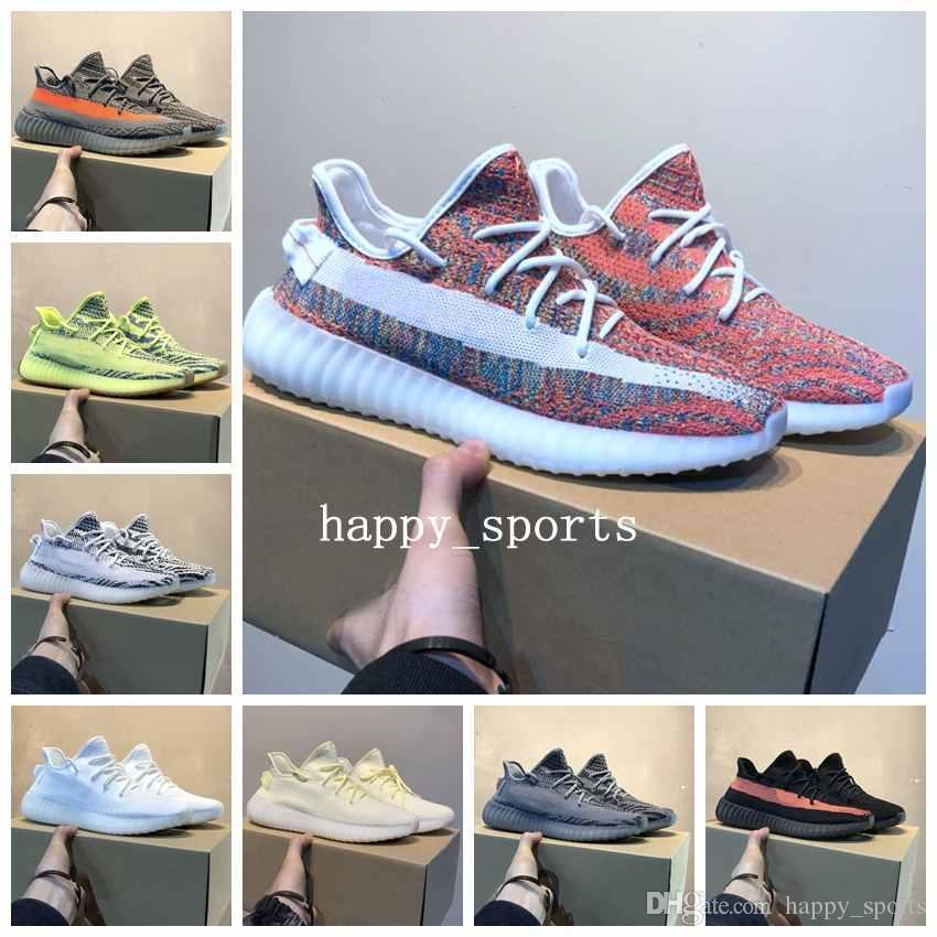 Designer shoes adidas yeezy boost 350 V2 2019 Chaussures de course pour hommes et femmes Baskets Beurre Hyperspace Static True Form Clay Marque