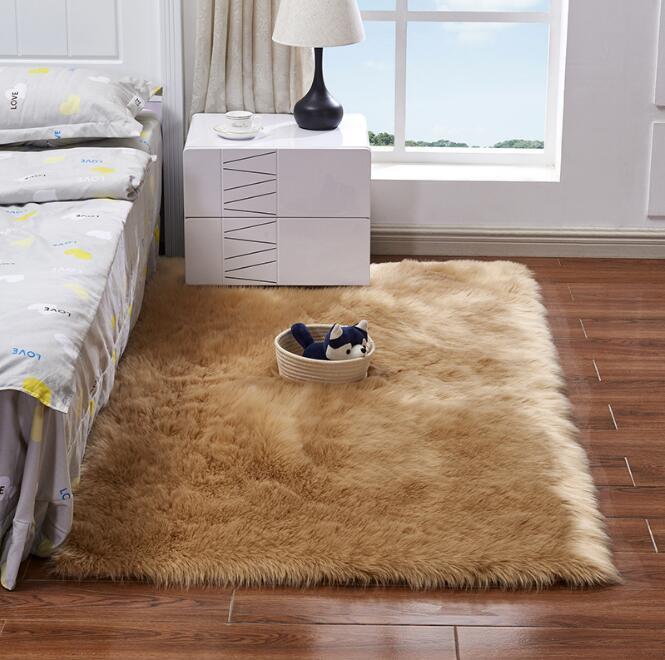 Großhandel Mehr Größe Künstliche Schaffell Teppich Stuhl ...