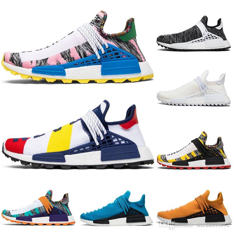 meilleur pas cher d85cf d4749 adidas Originals Human Race Hu NMD Trail 2019 race humaine Hu piste  pharrell williams hommes courir chaussures mens formateur femmes designer  sport ...